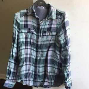 Flannel button down NWOT